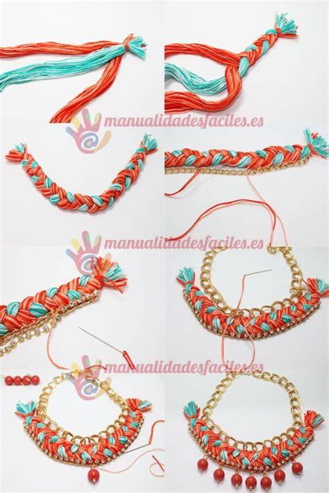 como hacer un collar como hacer un collar tejido con cadenas y abalorios