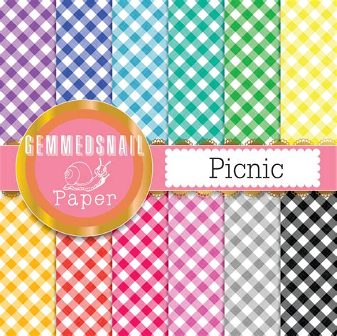 gingham digital paper picnic blue gingham digital paper yellow and blue check gingham
