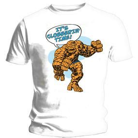Anggota Fantastic Four T Shirt Size S fantastic four t shirt the thing forbiddenplanet uk and worldwide cult entertainment