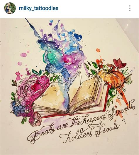 tattoo designs book beautiful book with flowers and watercolour my