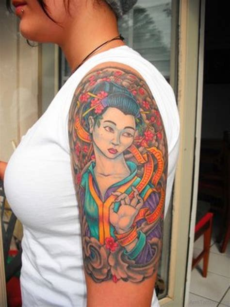 geisha tattoo for men 52 mind blowing geisha tattoos for arm