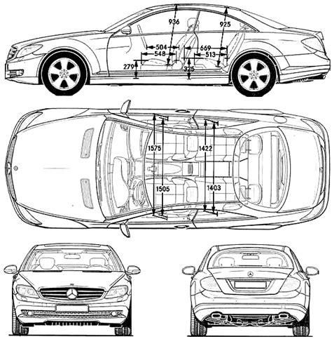500 Sketches Pdf by Car Blueprints Mercedes Cl 600 Blueprints Vector