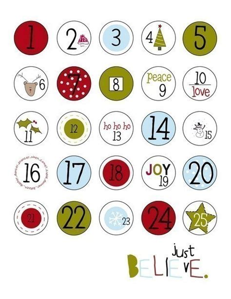 printable iron on numbers items similar to countdown to christmas iron on labels on etsy