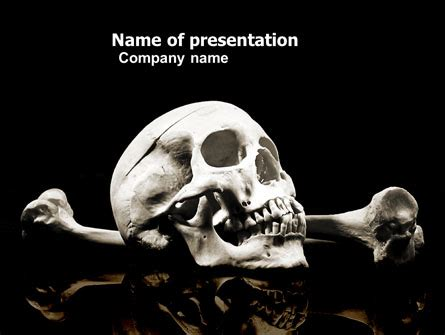 Skull And Bone Powerpoint Template Backgrounds 04834 Poweredtemplate Com Bone Powerpoint Template