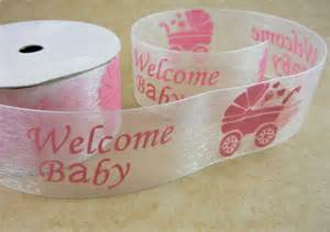 3 yards welcome baby organza ribbon for baby shower bows