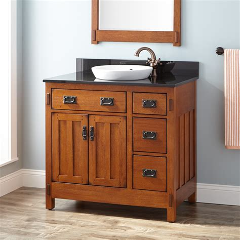 vanity for 36 quot craftsman vanity for semi recessed sink