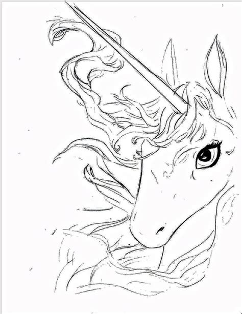 12 Best Images About The Last Unicorn On Pinterest The Last Unicorn Coloring Pages