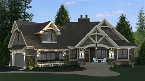 Daylight Basement Home Plans Craftsman Style House Plans Single Story With Daylight Basement Luxamcc