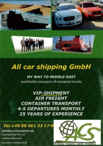 Auto Spedition by Car Shipping Weltweite Auto Transporte