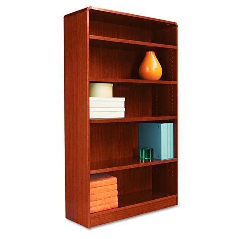 alera radius corner bookcase 5 shelf 36x60 mc each