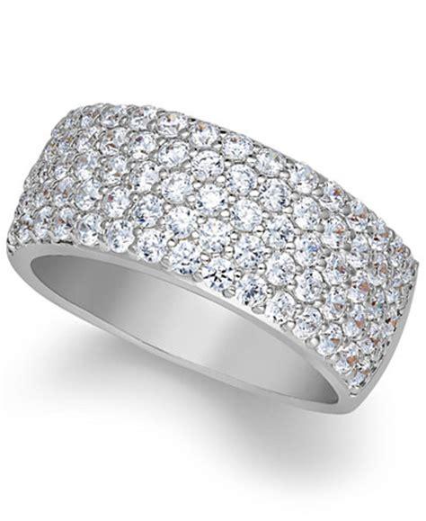 arabella sterling silver ring swarovski zirconia pave