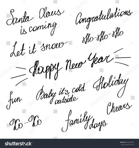 new year handwriting handwriting happy new year merry stock vector