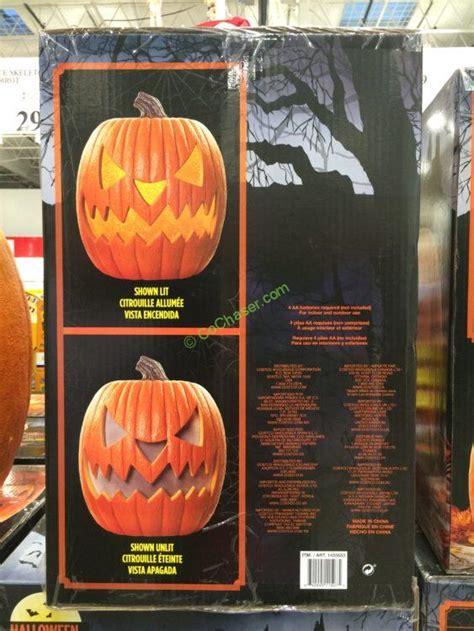 costco   halloween pumpkin led lights  sounds inf costcochaser