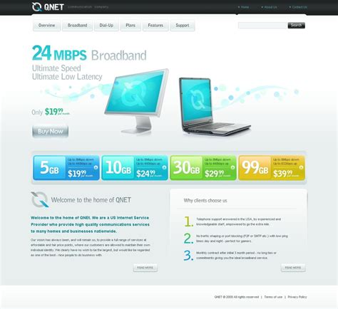 isp website template web design templates website