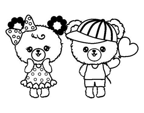dibujos de navidad para colorear de ositos dibujo de ositos kawaii enamorados para colorear dibujos