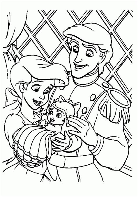little mermaid and eric coloring pages the little mermaid coloring pages ariel and eric az
