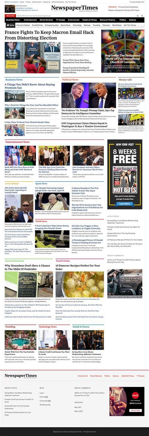 newspaper theme word newspapertimes wordpress theme re designed for news sites