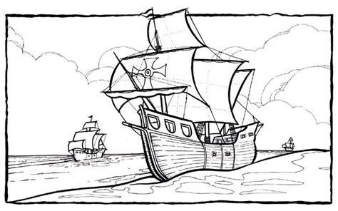los barcos de cristobal colon para colorear dibujos de carabelas para descargar y pintar colorear