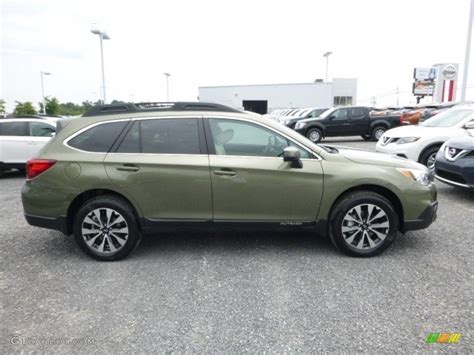 green subaru outback 2018 2017 wilderness green metallic subaru outback 2 5i limited