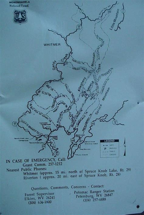 Spruce Knob Trail Map by Wv Huckleberry Trail Spruce Knob Pictures