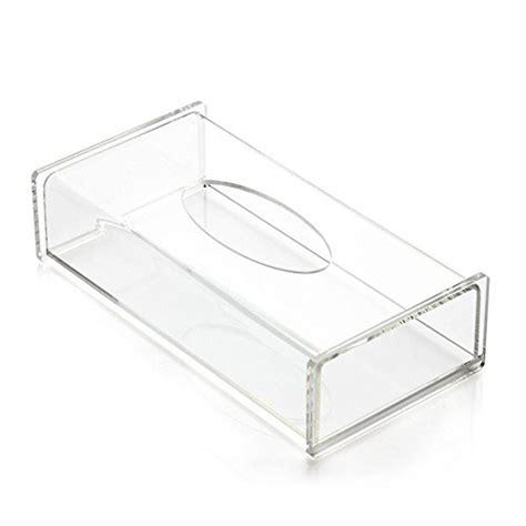 bathroom napkin holder aoert acrylic tissue dispenser box rectangle clear tissue