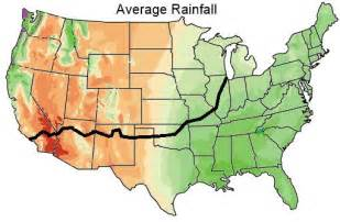 average rainfall map weather on route 66