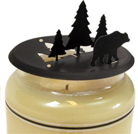 Candle Toppers Pine Candle Jar Topper