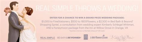 Real Simple Sweepstakes - the real simple throws a wedding sweepstakes