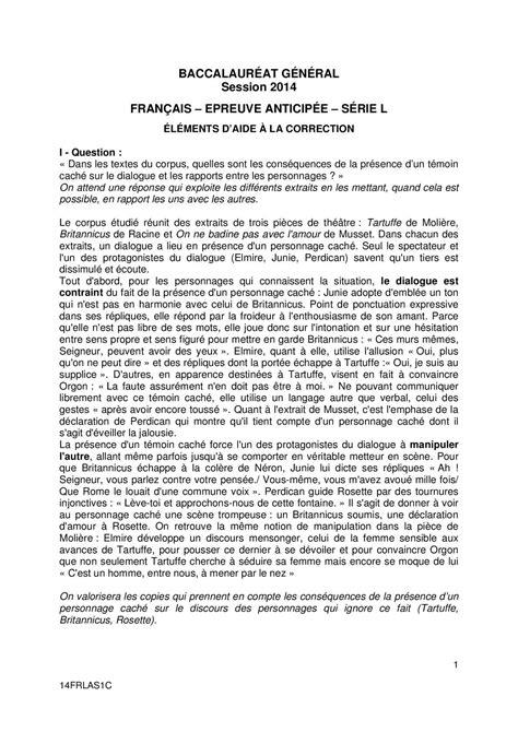 Calaméo - Corrigé Série L2014rio