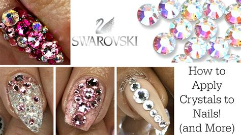 Nails And More by How To Apply Swarovski Crystals To Nails And More