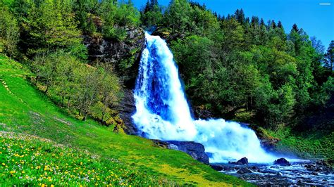 wallpaper 4k spring beautiful waterfall in the spring wallpaper 939 wide