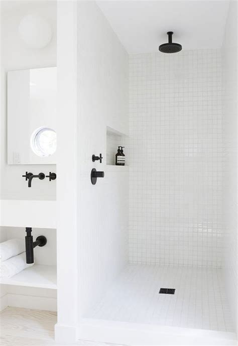 white shower 30 white shower floor tile ideas and pictures