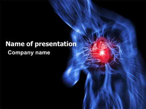 heart catadrome powerpoint template backgrounds 06982