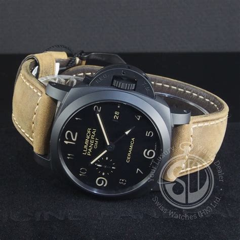 Officine Panerai Luminor Luminor Pam 441 Swiss Clone 1 1 Ceramica swiss panerai luminor gmt watches