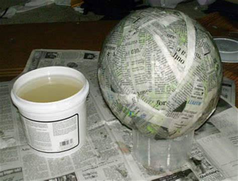 How To Make Paper Mache With Newspaper - amethyst paper mache tutorial