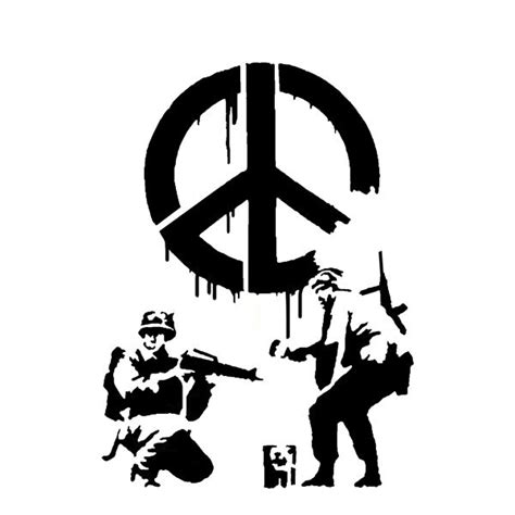 banksy stencil templates banksy cnd soldiers stencils