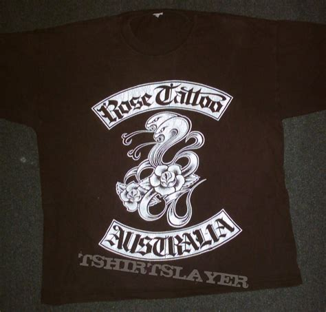 rose tattoo band shirt tour shirt tshirtslayer tshirt and