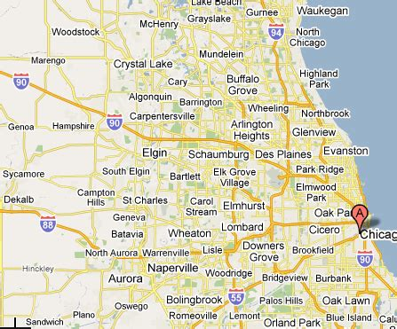 Of Chicago Search Map Of Chicago And Surrounding Suburbs Search Engine At Search