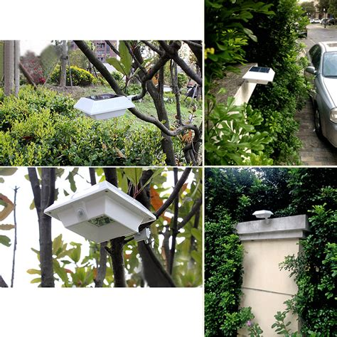 Fence Post Lights Outdoor 4 Leds Waterproof Solar Bright Lights Outdoor Garden Fence Post Wall L Ebay