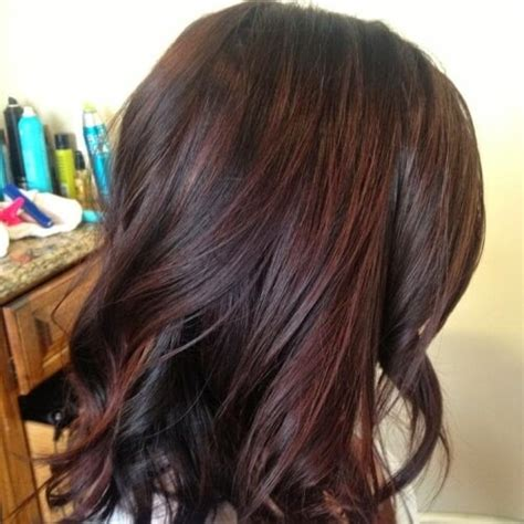 pictuted of red highlights on dark hair with spiky cut brown hair natural red highlights www imgkid com the
