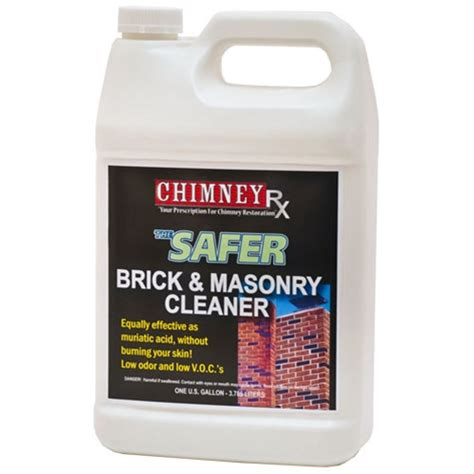how to clean brick with chimneyrx safer brick and masonry