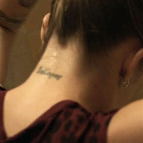 kendall tattoo on neck jemima kirke writing neck tattoo steal her style
