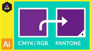cmyk rgb to pantone converting colours in adobe illustrator