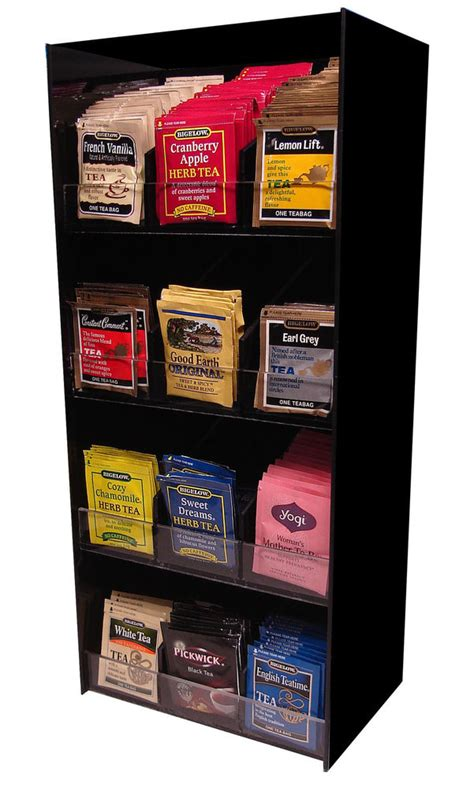 Coffee Sugar Tea Rack Dispense office Display Holder Organizer Lipton Bigalow 12   eBay