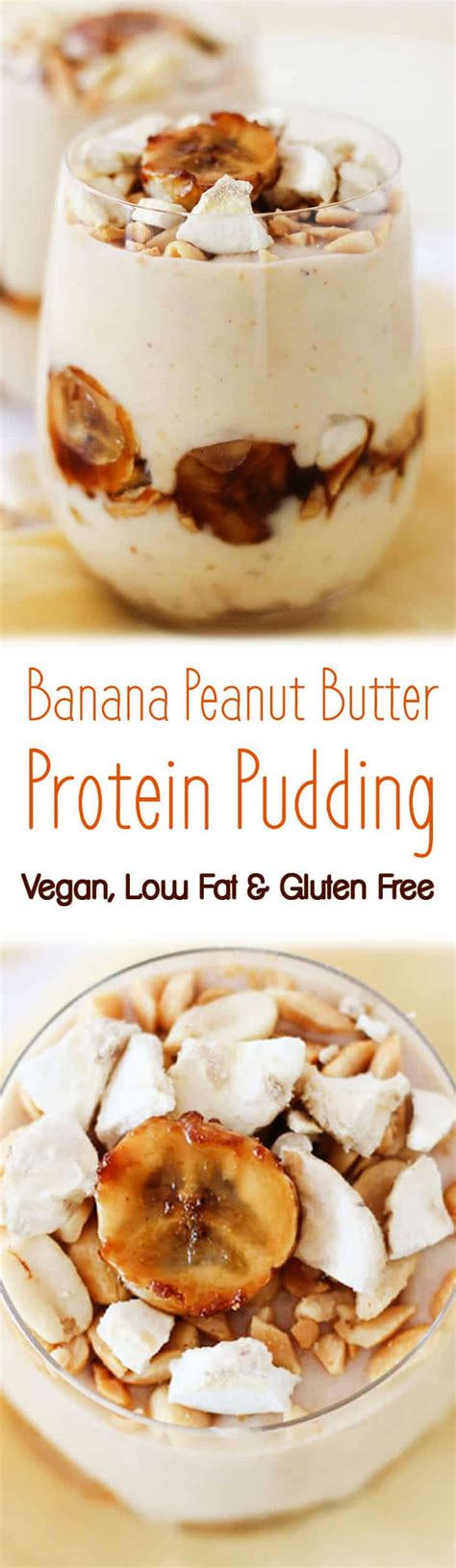 protein pudding vegan banana peanut butter protein pudding