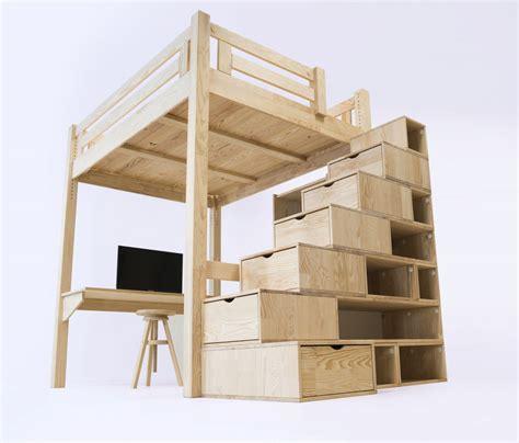 Plan Lit Mezzanine En Bois by Mezzanine Alpage Avec Escalier Cube Bois Lit Mezzanine