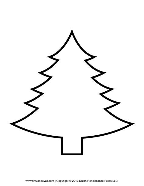 christmas tree clipart outline clipartsgram com