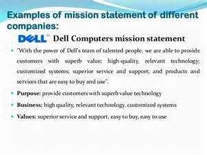Mission Statement Of Mission Statement Exles Alisen Berde