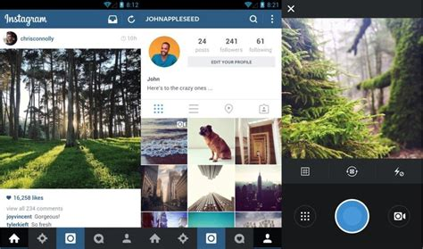 instagram design for today cult of android instagram for android gets simplified