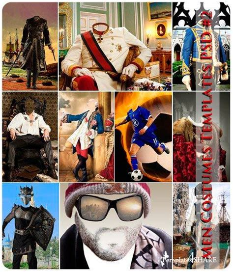 photoshop template of costume men s costumes psd templates 2 187 templates4share com